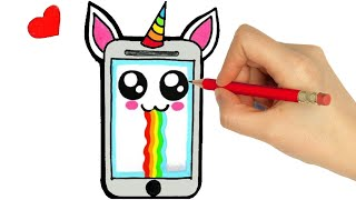 HOW TO DRAW A CUTE SMARTPHONE