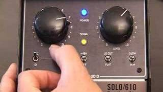 Universal Audio Solo 110 and Solo 610