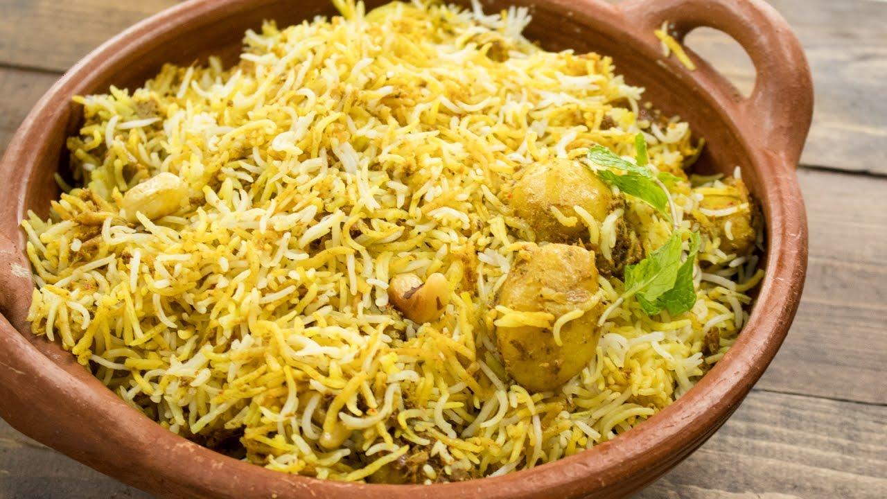 Aloo Biryani Recipe Easy Restaurant Style Dum Aloo Biryani Indian Main Course Recipes