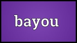Bayou Meaning