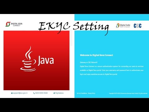 Java setting for Firefox and for EKYC in Apna CSC