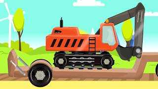 .Red Tractor construction - Delivery of parts by a big Ship | Fairytales for Babies & Kids - Bajki