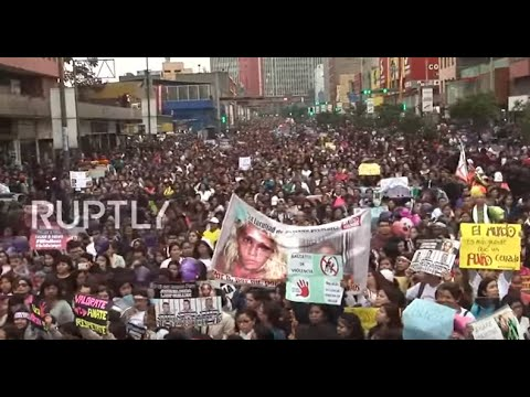 Peru: Thousands take to streets of Lima to protest violence against women
