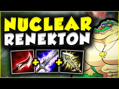 NUCLEAR ONE-SHOT RENEKTON BUILD IS SO OP! NUKE RENEKTON TOP GAMEPLAY SEASON 7 - League of Legends