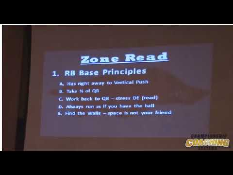 Offense   Pistol Offense @ Nevada By Chris Klenakis   Run Game   Zone Read   Minn Clinic 2014