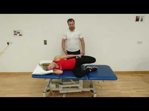Lying Hip flexor stretch