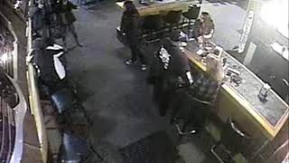 Footage shows bar beating that led to 2 bikers charged with assault