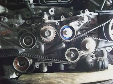 Subaru Legacy `08 25l SOHC non turbo timing belt replacement  YouTube