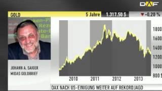 """Johann A. Saiger: """"Ausbruch einer Hyperinflation - Gold-Ziel 5.000"""""""