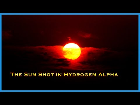 The Sun Shot With a Solar Telescope Using H. Alpha filters