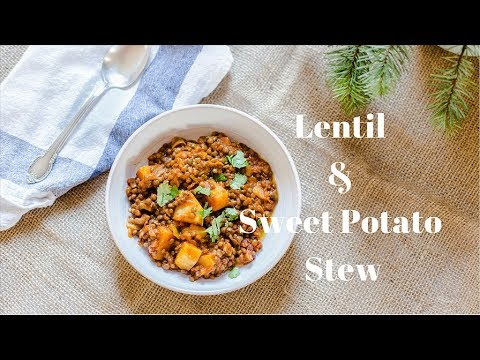 Lentil Yams Green spinach Stew