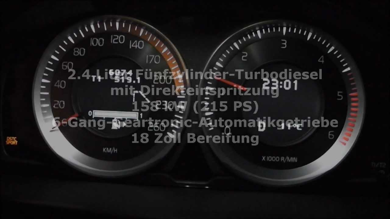 Volvo S80 D5 2.4 Executive 215 PS Acceleration Beschleunigung 0-100 km/h - YouTube