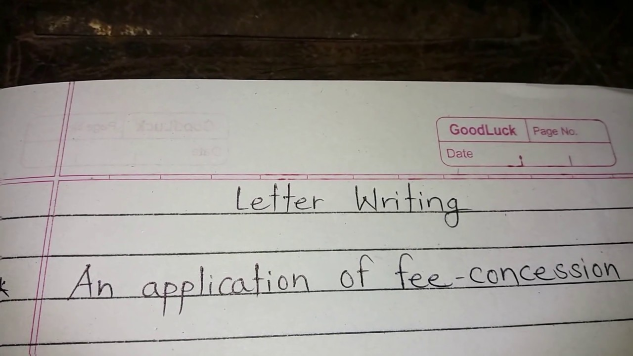 Application For Fee Concession How To Apply For Fee