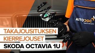 Kuinka vaihtaa takajousi SKODA OCTAVIA 1U -merkkiseen autoon OHJEVIDEO | AUTODOC