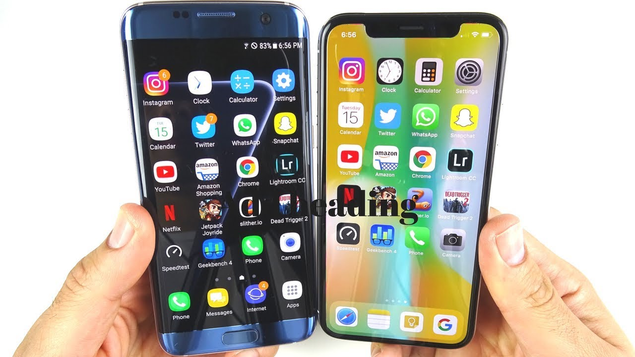 SAMSUNG GALASY S7 VS IPHONE XS