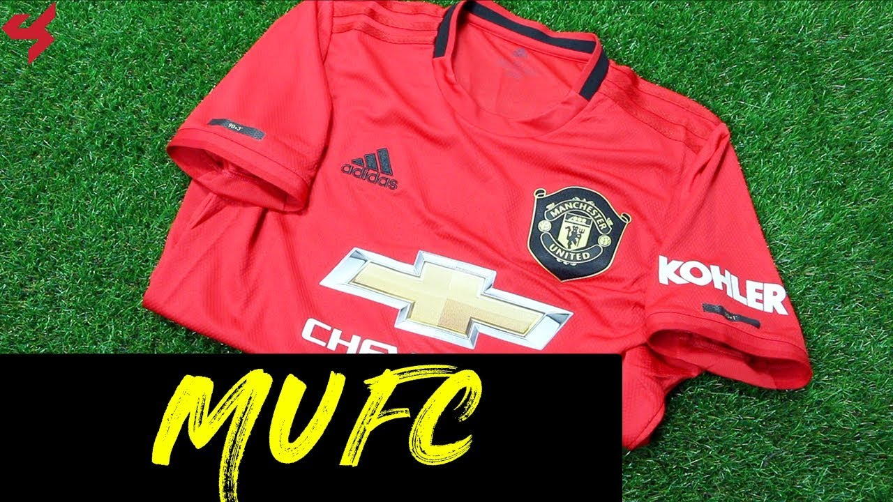 new products 85ae0 ab54f Adidas Manchester United Rashford 2019/20 Home Soccer Jersey Unboxing +  Review