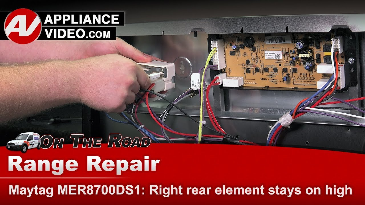 Maytag Kenmore Whirlpool Range Element Stays On High Heat Wiring Double Wall Oven Diagnostic Repair