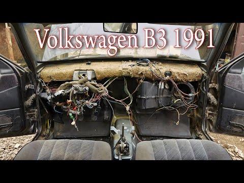 Сборка печки Volkswagen B3 1991
