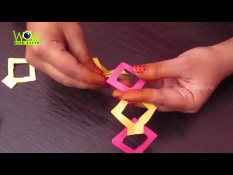 How To Make DIY Paper Chain without glue | Easy Tutorial for kids