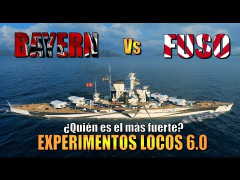 World of warships Fuso VS Bayern || BBs T6 || Experimento loco 6.0 WOWs