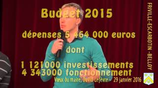 Voeux pour 2016  de David Lefèvre, maire de Friville-Escarbotin-Belloy