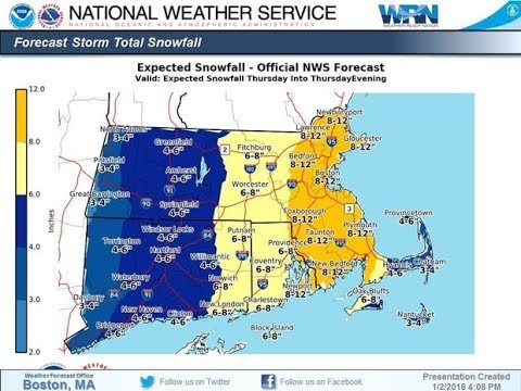 Blizzard to hit Massachusetts coast with high winds, over a foot of snow