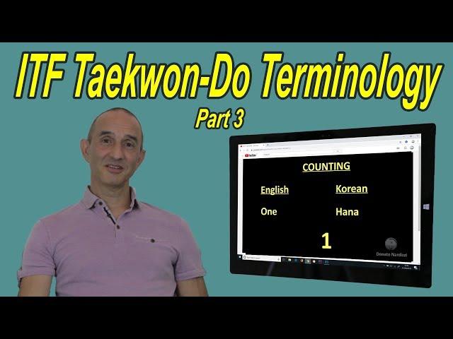 ITF Taekwon-Do Terminology - Part 3