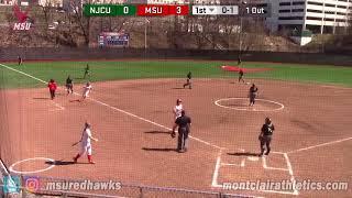 Montclair State Softball Highlights vs. New Jersey City - 4/22/18
