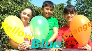 Surprise Balloons Color Finger Family Song By Guka Family Show