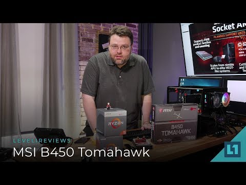 MSI B450 Tomahawk Socket AM4 Motherboard Review + Linux Test - YouTube