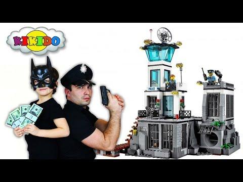 Лего Остров Тюрьма 60130. Ограбление Банка. Обзор и Сборка Конструктора. Кикидо