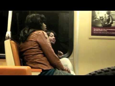 Two +1 Chics Catfight on Washington Metro train