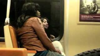 Two +1 Chics Catfight on Washington Metro train
