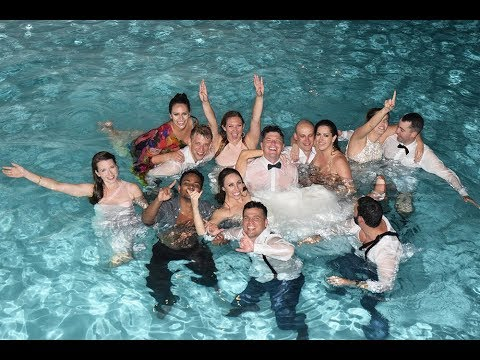 Kristin & Tony's Wedding Reception - JUMP IN THE POOL