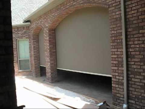 motorized sun shade for outdoor patio solar screen austin lakeway tx youtube - Patio Sun Shades
