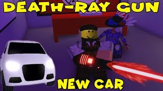 DEATH RAY AND NEW CAR IN MAD CITY / mad city update (ROBLOX)