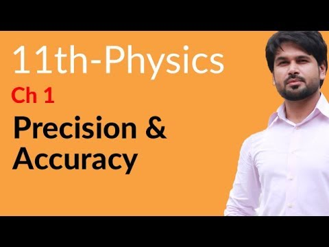 FSC Physics book 1,Precision & Accuracy-Physics Chapter 1 Measurements-1st year Physics