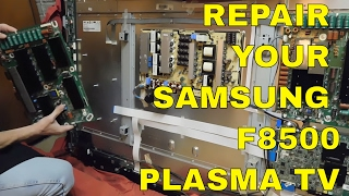 Samsung f8500 Plasma TV repair - how to replace the Y-board