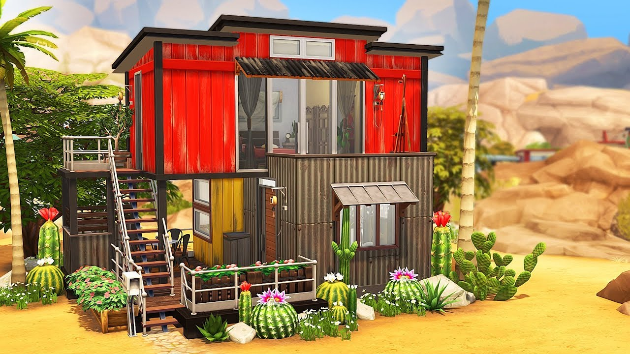 STACKED TINY HOUSES 🎍 | The Sims 4 | Speed Build