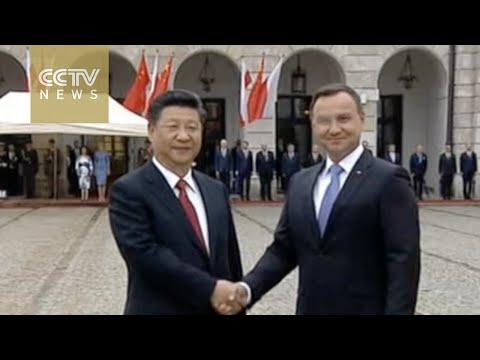 Polish President Andrzej Duda holds welcoming ceremony for Chinese President Xi Jinping