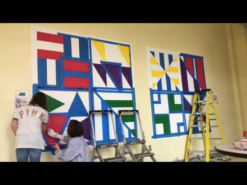 Installation Of Sol Lewitt S Wall Drawing 552d Youtube