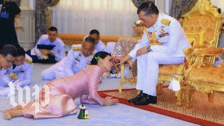 Watch the ceremony that made the Thai king's bodyguard his queen