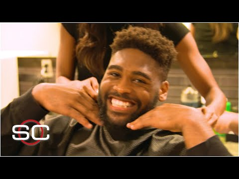 Jonathon Cooper Gets A Haircut At Ohio State's Barber Shop | SportsCenter