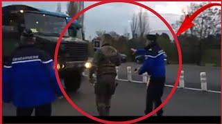 Quand la police arrete l armée a cause d un gilet jaune sur le tableau de bord inadmissible(choc)