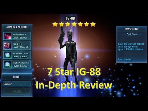 Star Wars Galaxy of Heroes: 7 Star IG-88 In-Depth Review