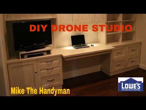 Pt 1 Diy Kitchen Cabinet Drone Work Desk Handyman Style Youtube