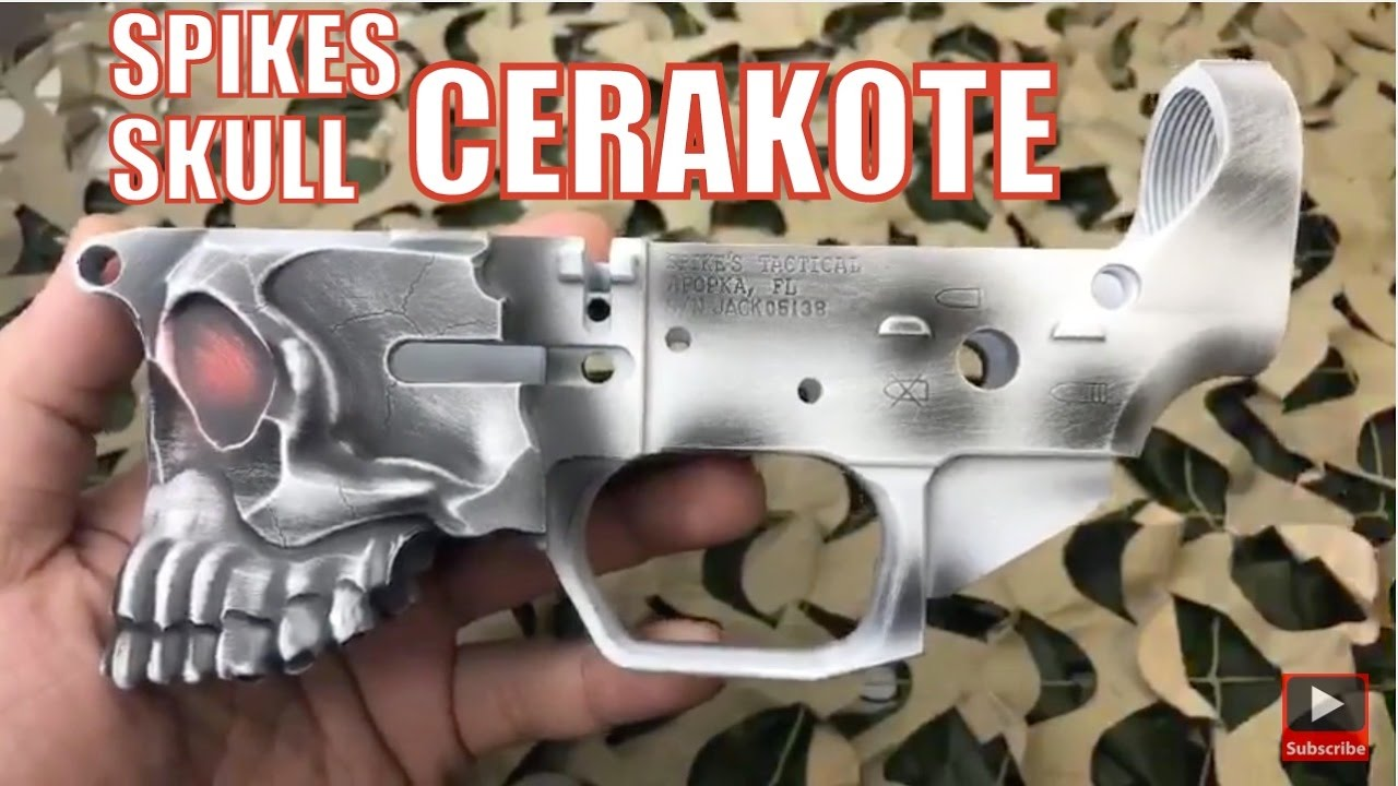 Spikes Tactical Skull The Jack Billet Ar15 Stripped Lower Receiver Custom Cerakote Coating