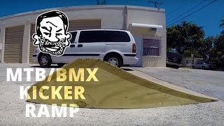 How to build a kicker ramp for BMX or MTB