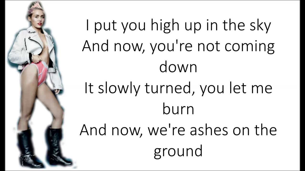Miley Cyrus-Wrecking Ball lyrics - YouTube