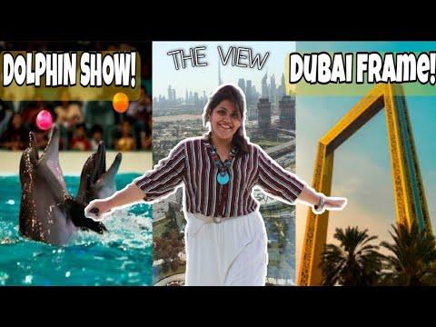 SKY WALK AT THE DUBAI FRAME 2021😨 ENJOY DOLPHIN SHOW @CREEK PARK😎SEE DUBAI HISTORY@OLD DUBAI MUSEUM🙌